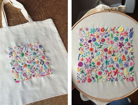 Embroidered Tote Bag embroidered tote bags made by m