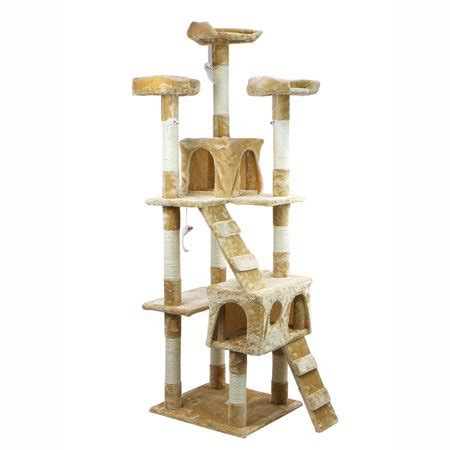 cat tower with hammock xtremepowerus 67 quot condo cat tree scratching posts cat