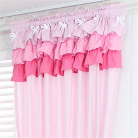 Pink Ruffle Curtains Uk by Pink Ruffle Curtains Pink Ruffle Window Curtain Panel