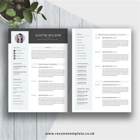 21418 pages resume template 2 cv template 2 pages gallery certificate design and template