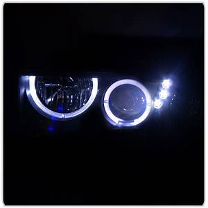 98-04 Chevy S10 Pickup    Blazer Angel Eye Halo Led Projector Headlights   Led Bumper Lights
