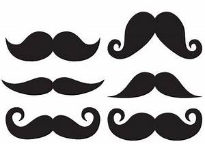 mustache stencil outline clipart best With mustach template