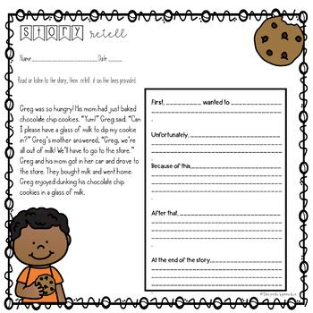 story retell  sequencing google drive activities
