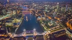 Beautiful Aerial Views Over London
