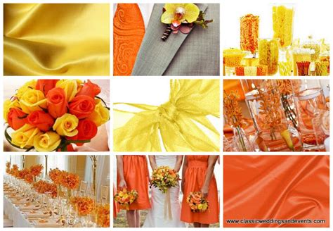 classic weddings and events yellow and orange wedding ideas
