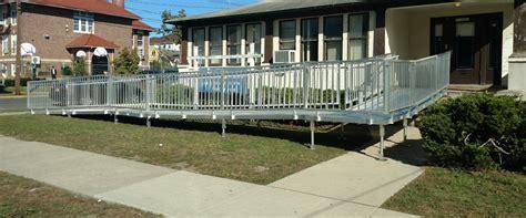 commercial ramp installation   school   jersey nj