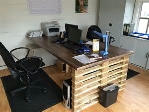 office desk with europalets endsdiy pallet furniture diy