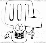 Spatula Coloring Cartoon Clipart Mascot Holding Happy Sign Background Outlined Vector Clip Keywordsuggest Credit Larger sketch template
