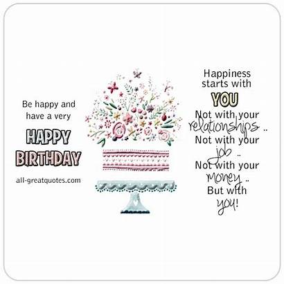 Birthday Happiness Happy Starts Card Very Quotes