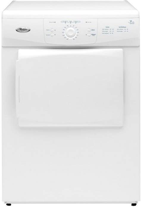 whirlpool awz 3309 blanc evacuation frontal electronique 7kg classe c aw z 3309 achat seche