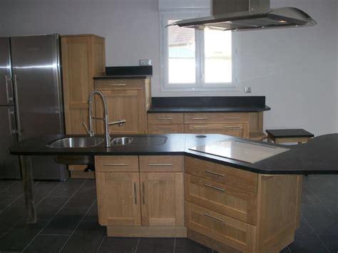 plan de travail cuisine granit noir cuisine en u