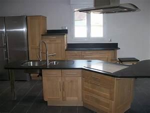 Plan De Travail Cuisine Granit : plan de travail en granit noir ~ Dallasstarsshop.com Idées de Décoration