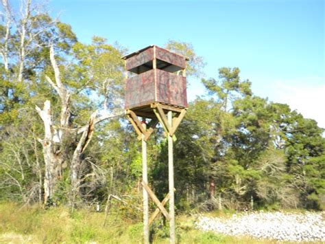 build   standing deer hunting blind  stand