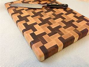 Handmade Butcher Block Cross Design End-grain by