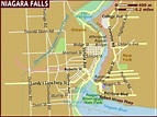 Images and Places, Pictures and Info: niagara falls map of ...