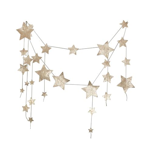 Cake Stands On Sale by Leo Amp Bella Numero 74 Garland Hanging Falling Star Gold
