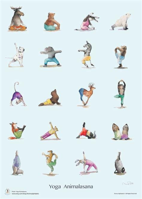 yoga positions yoga asana yoga poster animal yoga yoga