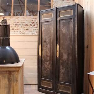 Mobilier Industriel Ancienne Armoire Industrielle En Mtal
