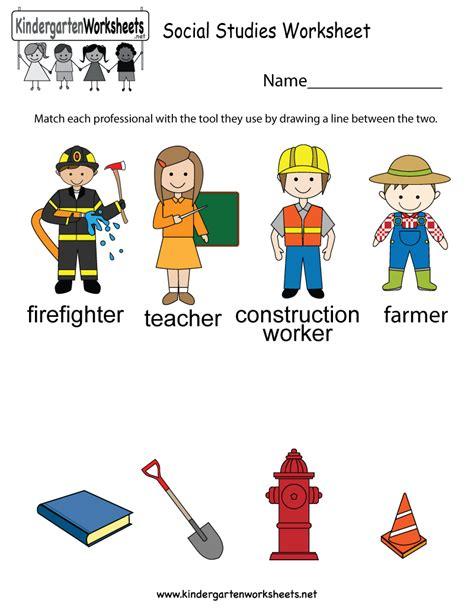Social Studies Worksheet  Free Kindergarten Learning Worksheet For Kids