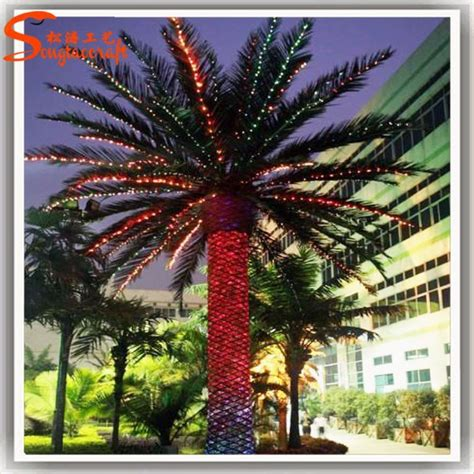 decorative palm trees with lights hall shopping decorative light palm trees manufacturers of
