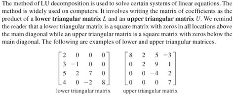triangular form linear algebra is there no difference between upper
