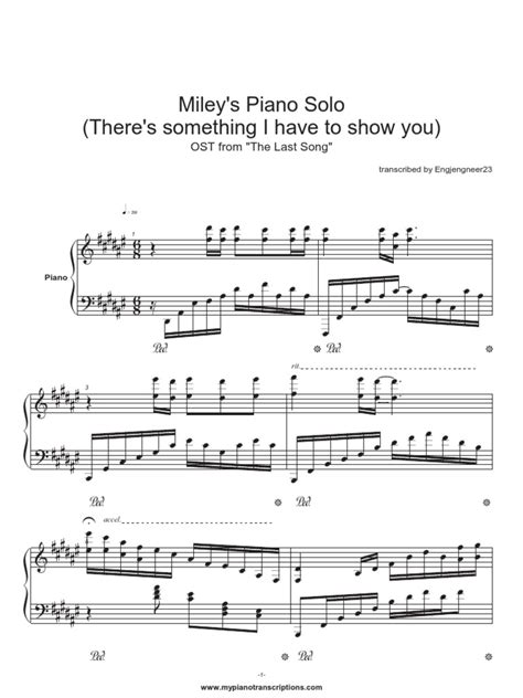 miley cyrus piano solo sheetmusic trade com courtship