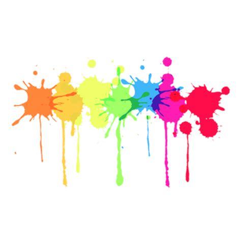 multicolour paint splatter transparent png stickpng