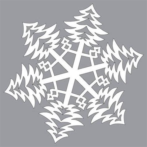 paper snowflake  bushy christmas trees pattern cut