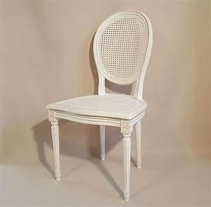Chaise Medaillon Blanche : chaise louis xvi medaillon cannee les beaux si ges de france ~ Teatrodelosmanantiales.com Idées de Décoration