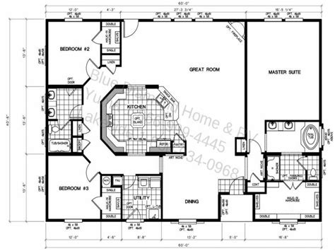 4 Bedroom Mobile Home Floor Plans Ideas Brilliant Design