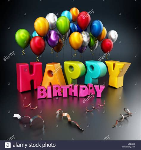 3d Happy Birthday Photo by 3d Blue Happy Birthday Balloons Stock Photos 3d Blue