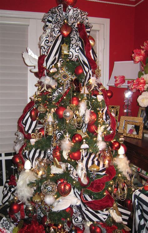 zebra print christmas tree decorations