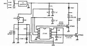 Simple Wind Battery Charger Wiring Diagram Schematic