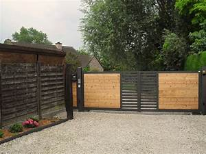 Portail En Bois : 118 best images about j mon portail on pinterest ~ Premium-room.com Idées de Décoration