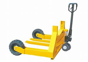 Adjustable Forks Rough Terrain Pallet Truck With Rubber