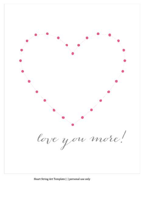 top heart string art templates      format