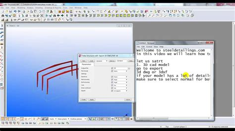 How To Export Tekla Model To 3d Autocad And 3d Dwg File