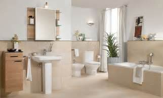 badezimmer modern beige ceramic tile bathroom design home interiors
