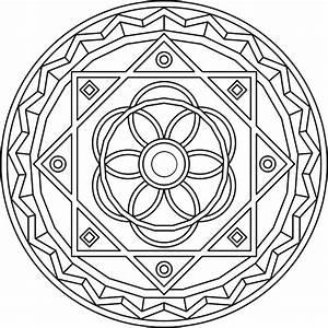 Free coloring pages of sin mandala para colorear