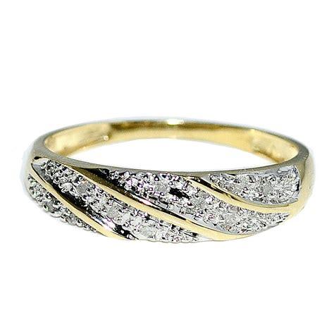 wedding band mens ring ct real diamonds   yellow