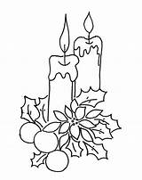 Coloring Pages Candle Christmas Decoration Coloringtop sketch template