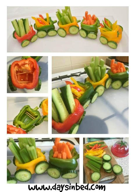 Vegetable Train A Fun Party Food Idea The Inspiration Edit