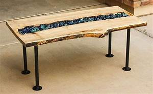 20 most unique river tables updated list With river rock coffee table