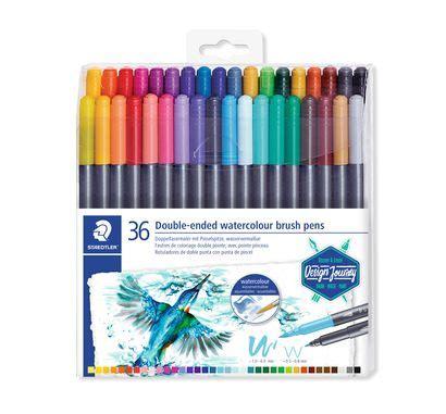 staedtler double ended watercolour brush pens cavalier
