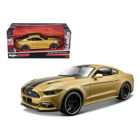 2015 ford mustang gt gold quot classic muscle quot 1 24 diecast