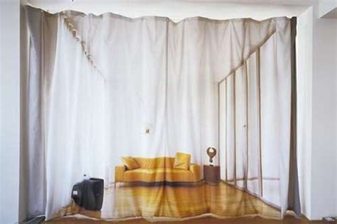 optical illusion curtains give the impression of a large
