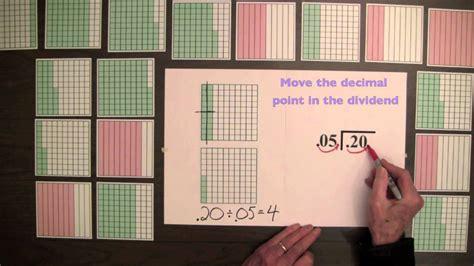 video  division  decimals  decimal squares youtube