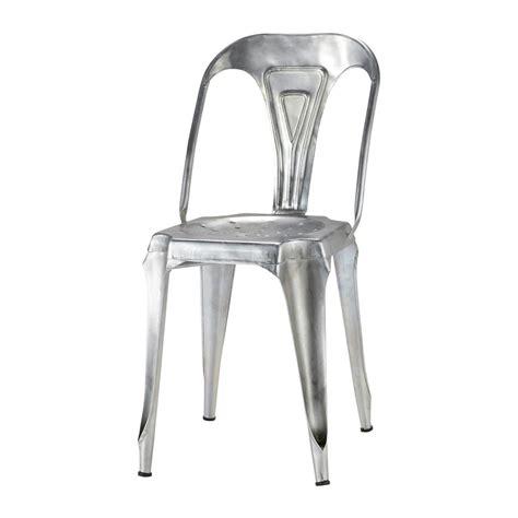 chaise en acier chaise indus en acier galvanisé multipl 39 s maisons du monde