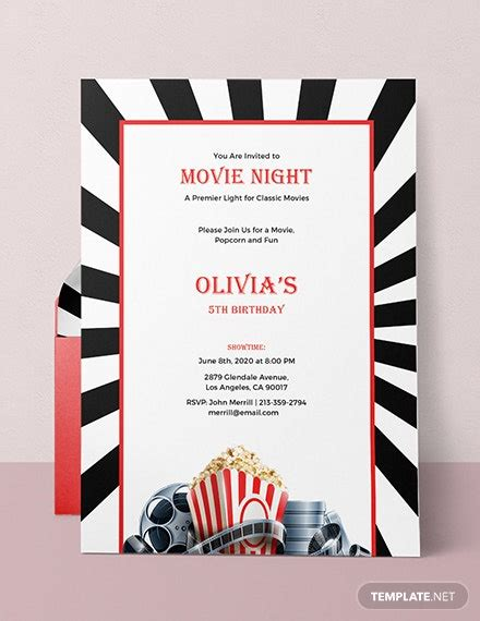 night invitation template