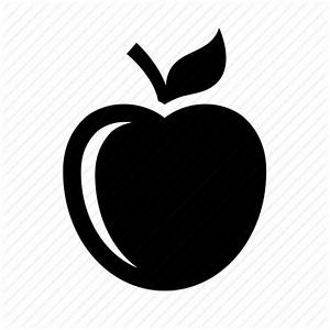 Apple, diet, education, food, fruit, nutrition, snack icon ...